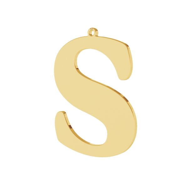 Pendant - big letter S*sterling silver 925*LKM-2506 - 0,60 30,2x39,7 mm