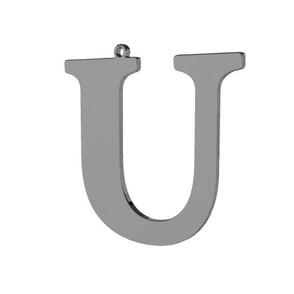 Pendant - big letter U*sterling silver 925*LKM-2508 - 0,60 38,9x40,4 mm