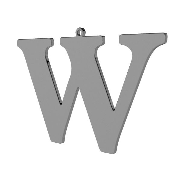 Pendant - big letter W*sterling silver 925*LKM-2510 - 0,60 38,4x58,3 mm