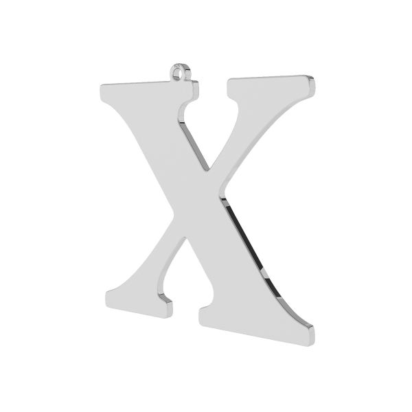 Pendant - big letter X*sterling silver 925*LKM-2511 - 0,60 38,3x39,5 mm
