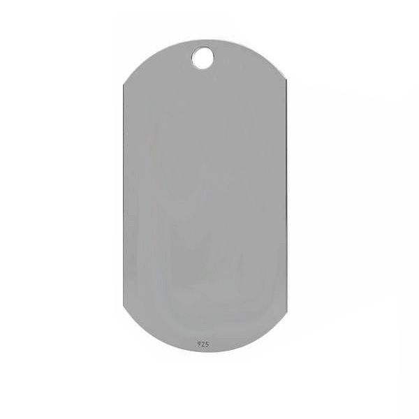 Family Dog tag pendant, silver 925, LKM-2570 - 0,50 17x32 mm