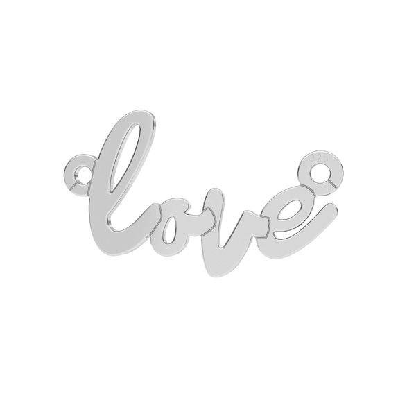 Love pendant connector*sterling silver*LKM-2397 - 0,50 10x18,7 mm