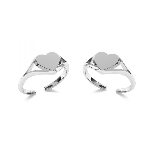 Signet for engraving - heart*sterling silver 925*ODL-00705 8x19 mm