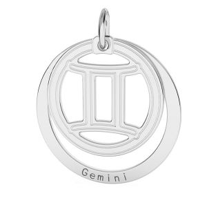 Aries zodiac pendant*sterling silver 925*LKM-2585 - 0,50 18x22 mm