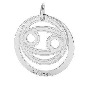 Cancer zodiac pendant*sterling silver 925*LKM-2589 - 0,50 18x22 mm