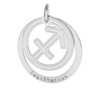Sagittarius zodiac pendant*sterling silver 925*LKM-2593 - 0,50 18x22 mm