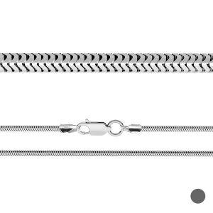 Flexible snake chain*sterling silver 925*CSTD 2,4 (34 cm)