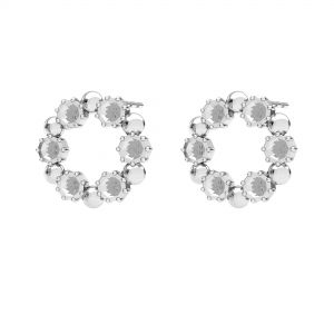 Round earrings, swarovski base*sterling silver 925*ODL-00704 KLS 14,2 mm (1088 PP 18)