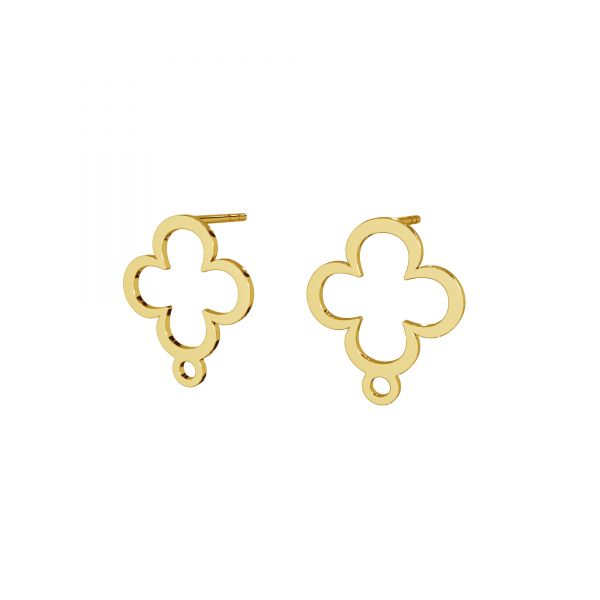Clover earrings, sterling silver 925, LK-2572 KLS - 0,50 13x15,4 mm