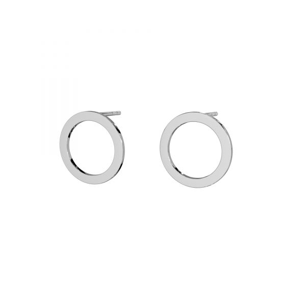 Clover earrings, sterling silver 925, LK-2571 KLS - 0,50 35x37,4 mm