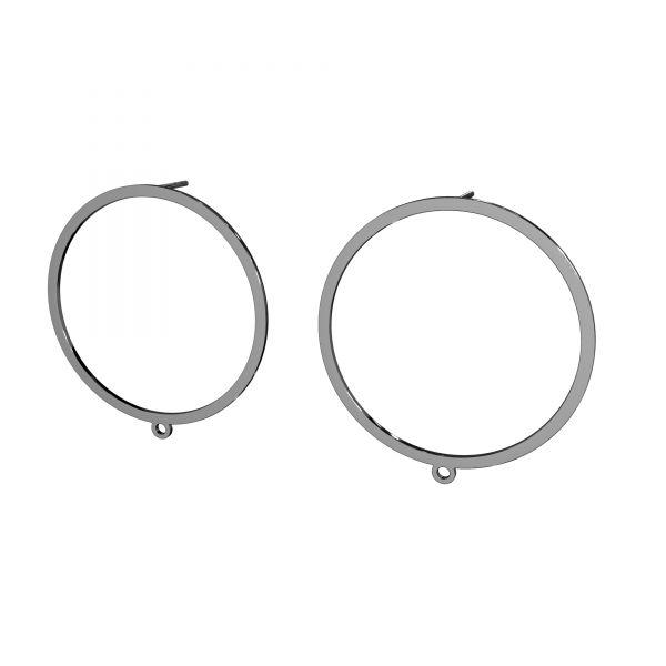 Clover earrings, sterling silver 925, LK-2576 KLS - 0,50 35x37,4 mm