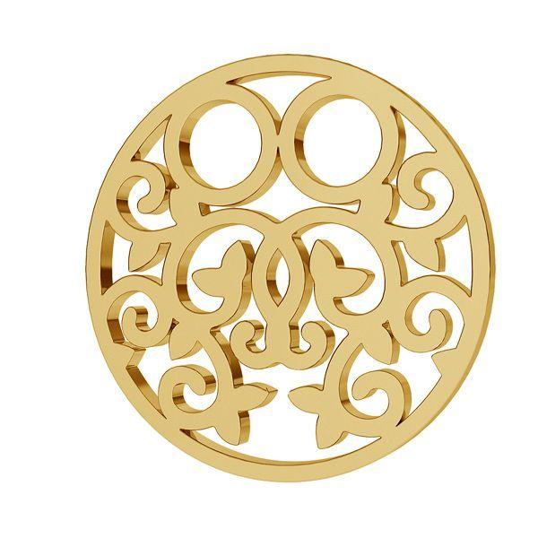 Round openwork gold pendant LKZ8K-30005 - 0,30 13x13 mm