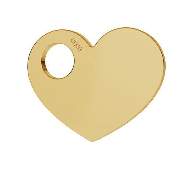 Heart pendant*gold 333*LKZ8K-30006 - 0,30 9,4x12 mm