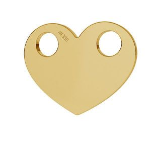 Heart pendant*gold 333*LKZ8K-30007 - 0,30 9,4x12 mm
