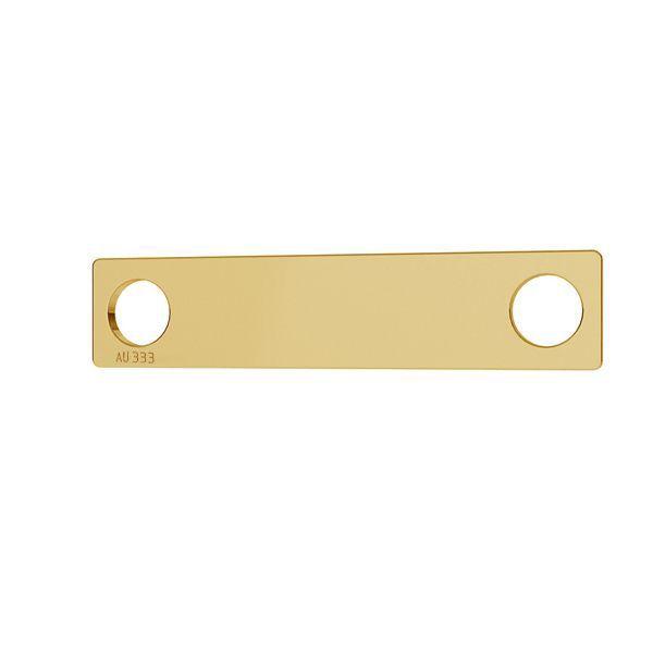 Rectangle pendant*gold 333*LKZ8K-30008 - 0,30 5x23 mm