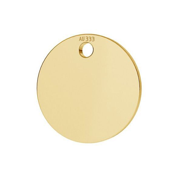Round tag pendant*gold 585*LKZ8K-30010 - 0,30 10x10 mm