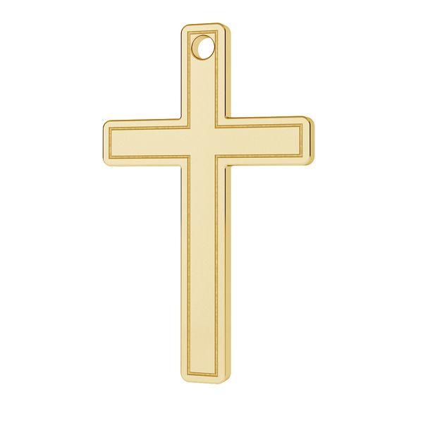 Cross pendant gold 14K LKZ-00027 - 0,30 mm