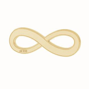 Infinity sign pendant*gold 333*LKZ8K-30015 - 0,30 6x16 mm