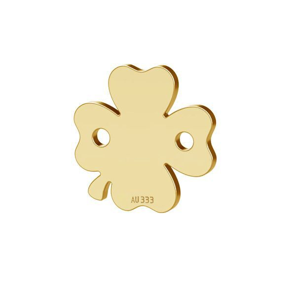 Clover leaf pendant connector*gold 333*LKZ8K-30023 - 0,30 10x10 mm