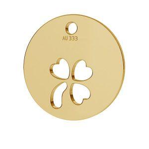 Round clover pendant*gold 333*LKZ8K-30009 - 0,30 9,5x9,5 mm