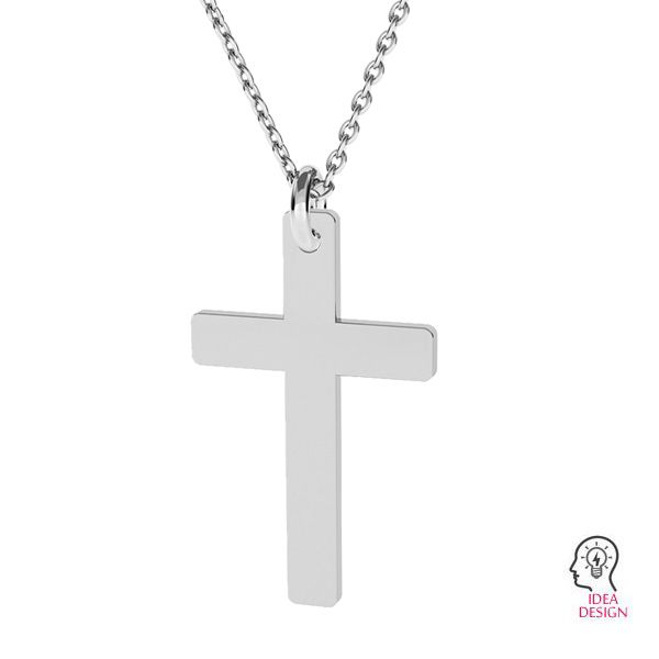 Cross pendant, sterling silver, LKM-2034