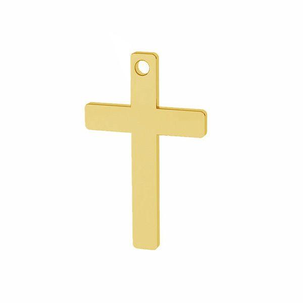 Cross pendant, sterling silver, LKM-2629 - 0,40 9,7x16,7 mm