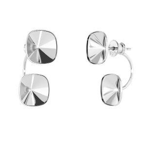 Ear back earrings pearl base*sterling silver 925*OKSV 4470 SWING 10x24,5 mm