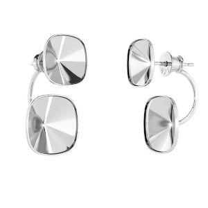 Ear back earrings Swarovski crystal base*sterling silver 925*OKSV 4470 SWING 10x24,5 mm (4470 MM 10,0)