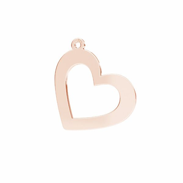 Heart pendant*sterling silver 925*LKM-2634 - 0,50