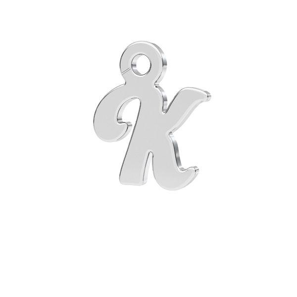 Letter E pendant*sterling silver 925*LK-0076 - 0,50 7,8x9,3 mm