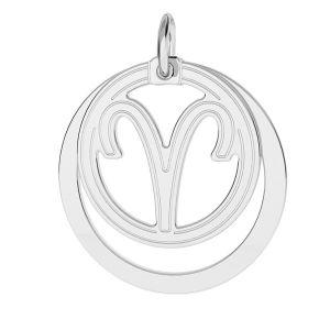 Aries zodiac pendant*sterling silver 925*LKM-2584 - 0,50 18x22 mm