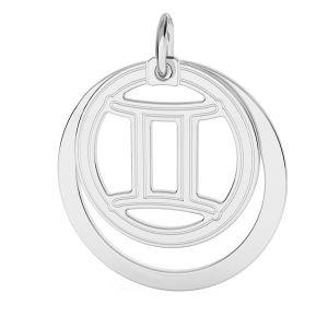 Aries zodiac pendant*sterling silver 925*LKM-2585 - 0,50 ver.2 18x22 mm