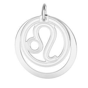 Lion zodiac pendant*sterling silver 925*LKM-2587 - 0,50 ver.2 18x22 mm
