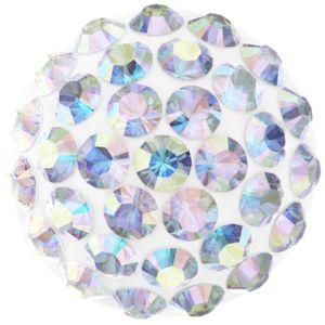 86601 MM10,0 01 001AB - Cabochon Pave Crystal Ab