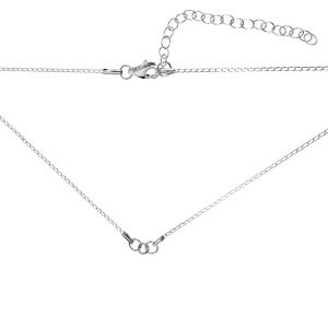 Necklace base*sterling silver 925*CHAIN 9 (PD 40 20+20 cm) 41 cm