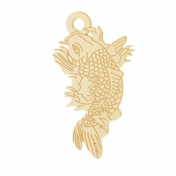 Lotos flower pendant*gold 585*LKZ14K-50090 - 0,30 10,6x19,2 mm