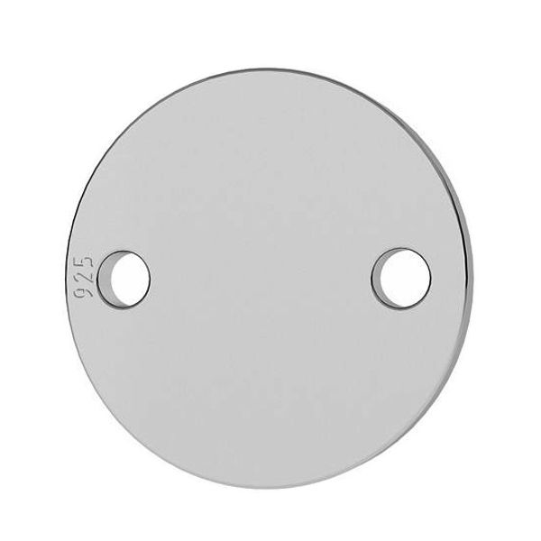 Round pendant connector tag 19 mm, sterling silver, LKM-2004