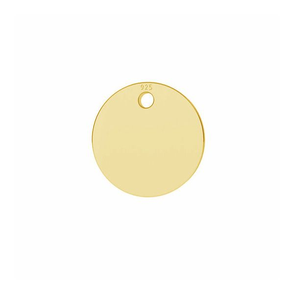 Round pendant tag 8 mm*sterling silver 925*LKM-2799 - 0,33 8x8 mm