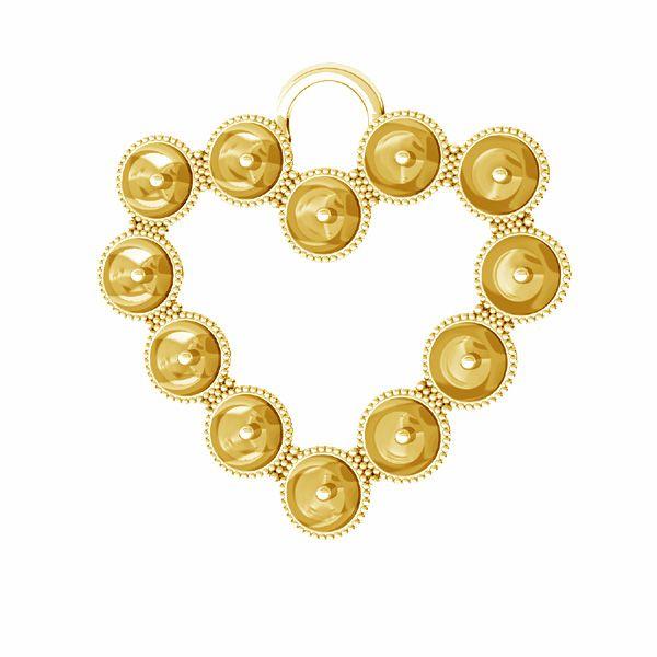 Heart pendant base for Swarovski pearls 4 mm*sterling silver*ODL-00789 24x24,5 mm (5818 MM 4)