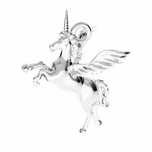 Unicorn pendant*sterling silber 925*ODL-00778 15,5x16,2 mm
