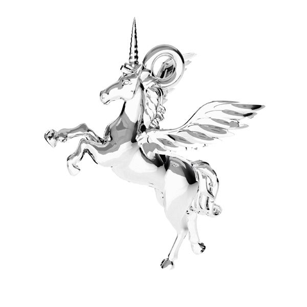 Unicorn pendant*sterling silber 925*ODL-00778 15,5x16,2 mm