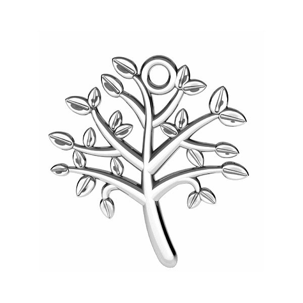 Tree of life pendant*sterling silver 925*ODL-00764 21,5x21,5 mm