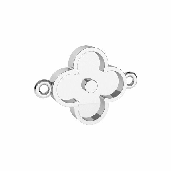 Round pendant for resin, crown*sterling silver 925*ODL-00680 CON 1