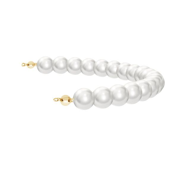 Module with 19 Swarovski pearls 8mm*silver 925*EL 24 8x175 mm