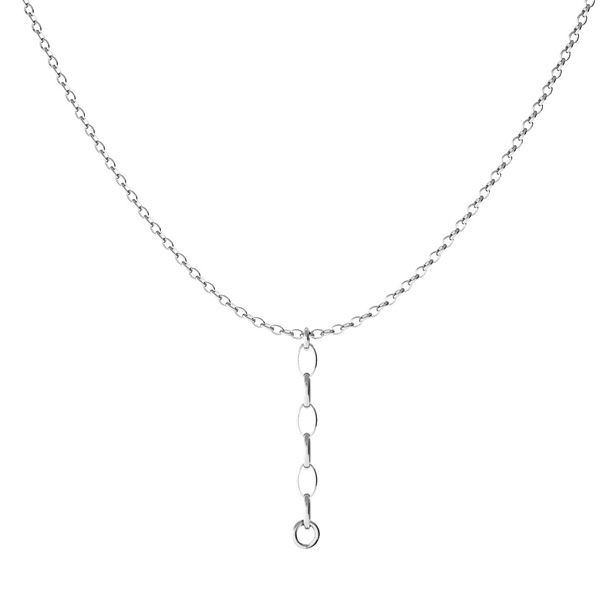 Necklace rolo base*sterling silver 925*CHAIN 44 (ROLO OVAL 0,35X0,60)