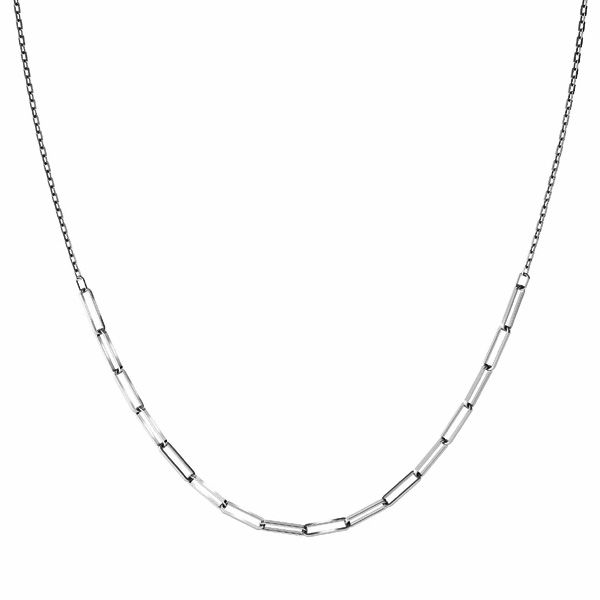 Necklace base*sterling silver 925*CHAIN 43 (FIO 100 3,1x10,7 mm)
