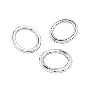 KCZ 0,7x3,6 mm - Jumprings (soldered), sterling silver 925