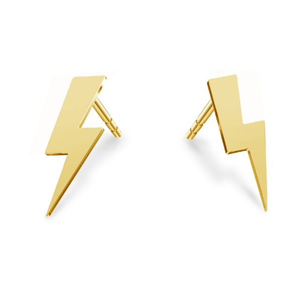Lightning earrings*sterling silver 925*KLS LKM-2826 - 0,50 5,2x14 mm