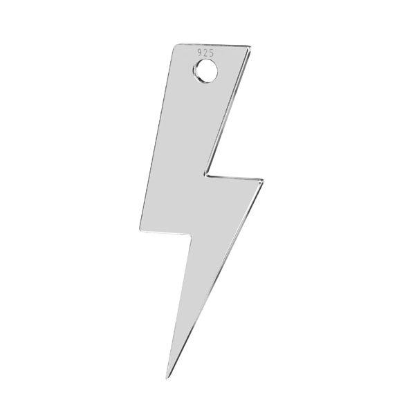 Lightning pendant*sterling silver*LKM-2827 - 0,50 7,9x21