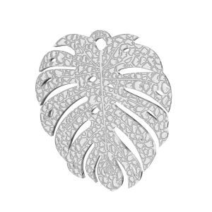 Monstera leaf pendant, sterling silver 925, LKM-2761 0,50 19,4x21,8 mm